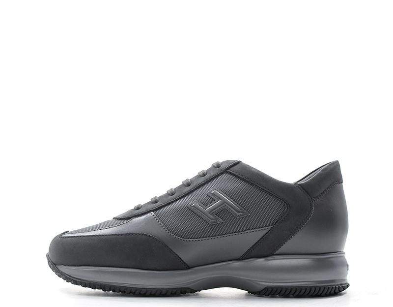 b1c07abccc Dettagli su Scarpe HOGAN Uomo Sneakers trendy GRIGIO Pelle naturale,Tessuto  HXM00N01980JC96