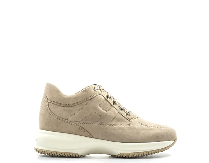 new style 143c5 b219d Dettagli su Scarpe HOGAN Donna Sneakers Trendy BEIGE Scamosciato  HXW00N00010CR0M011
