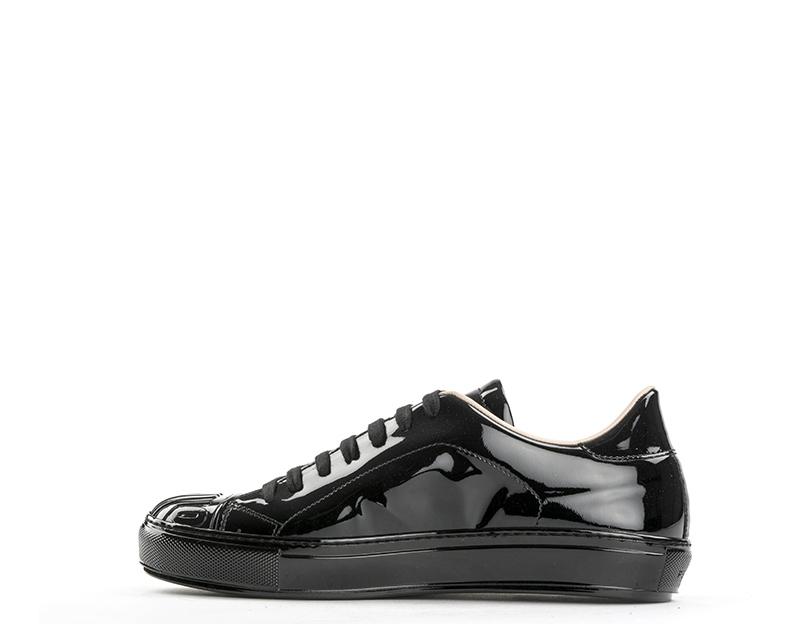 cheap for discount 3b9c9 45eb3 Dettagli su Scarpe PINKO Donna Sneakers Trendy NERO Verniciato  IH2084-Y2KQ-Z99