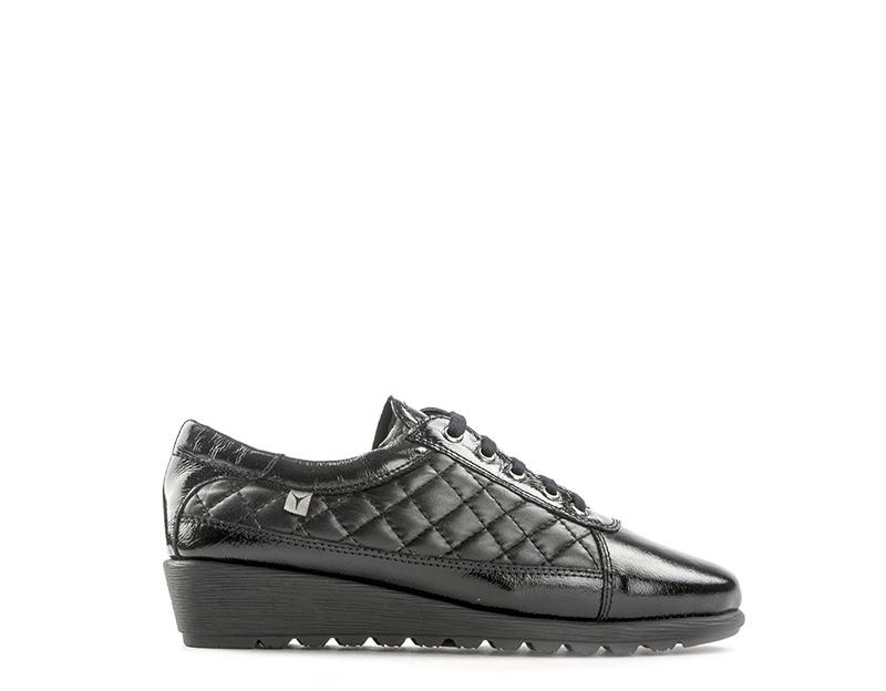 Scarpe CINZIA SOFT Donna Sneakers Trendy NERO Verniciato IV6039-PE001S b371e42a431