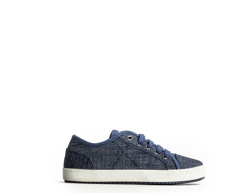 Dettagli su Scarpe GEOX Bambini Sneakers Trendy JEANS Tessuto J722CC 00013 C4001