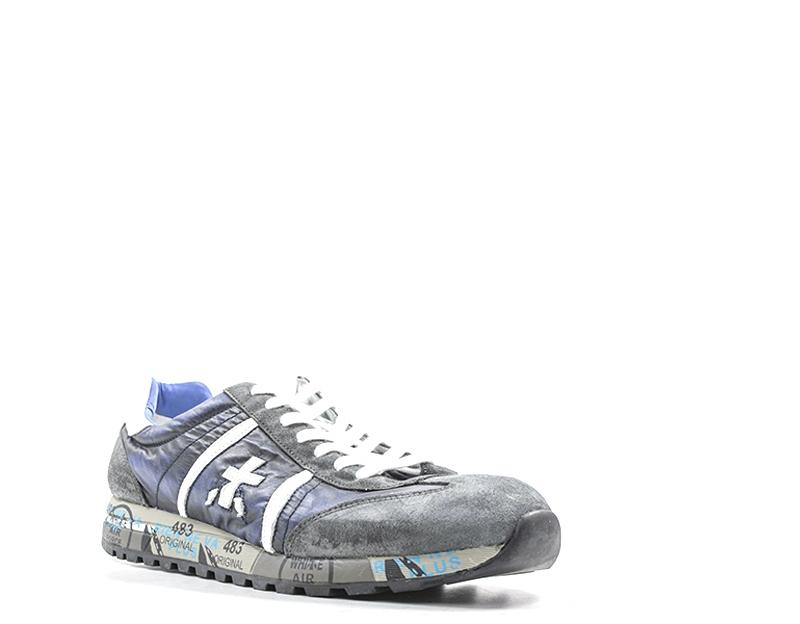 PREMIATA LUCY Sneaker uomo grigio pelle e tessuto