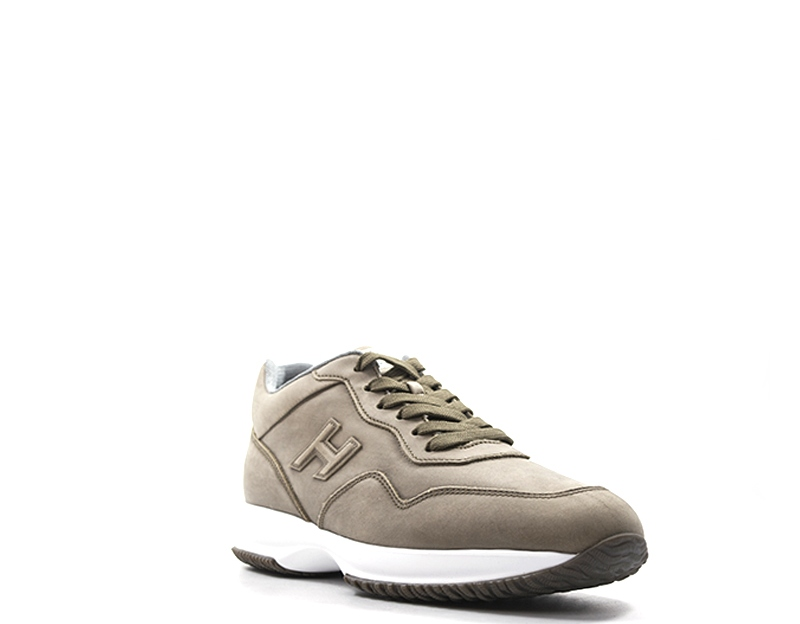 3d65fcce30 Dettagli su Scarpe HOGAN Uomo Sneakers trendy MARRONE Pelle naturale  M00N0U040LNDS413