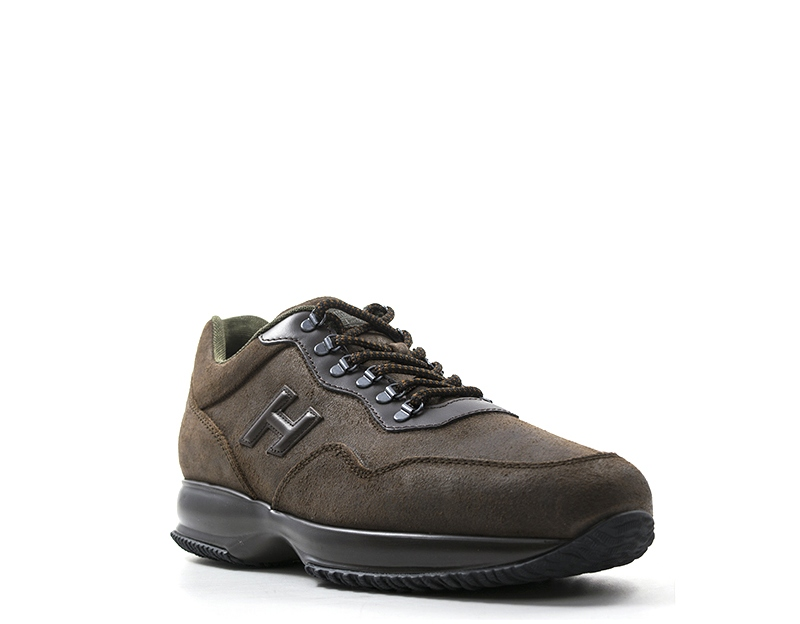 d2db3bf7b6 Dettagli su Scarpe HOGAN Uomo Sneakers trendy MARRONE Pelle naturale  M00N0X080H1C559W