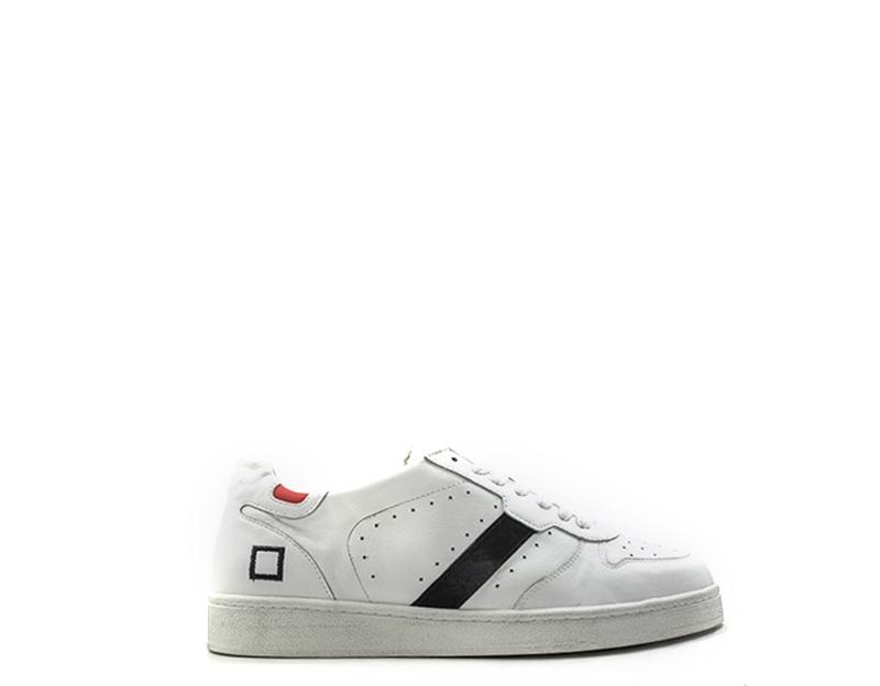 timeless design e4e0b 133d9 Dettagli su Scarpe D.A.T.E. Uomo Sneakers trendy BIANCO Pelle naturale  M261-CU-NA-WHI