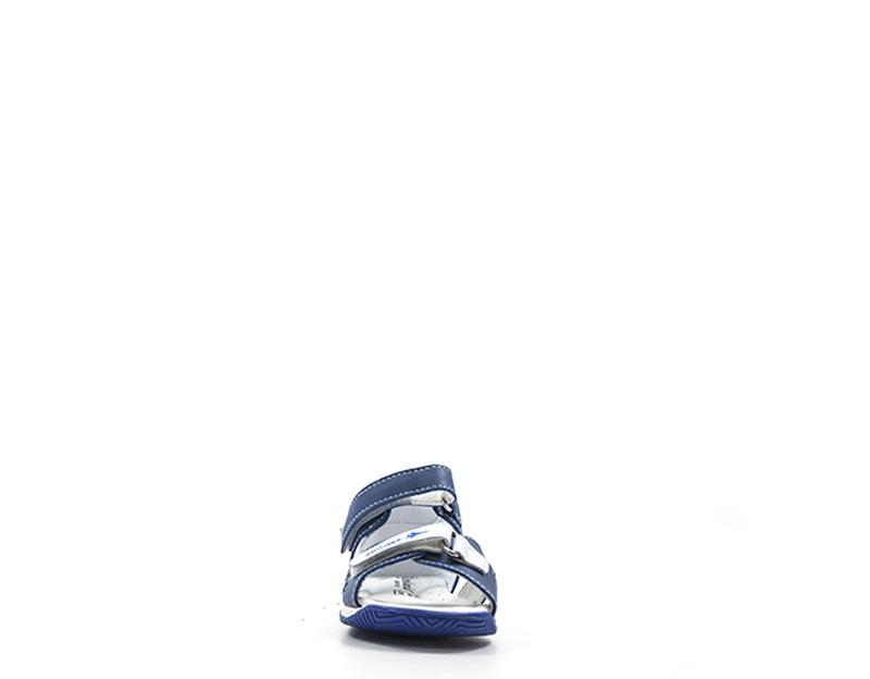 Scarpe GEOX Bambini Sandali Bassi  BLU Pelle naturale,Tessuto B921AB-08522-C4226