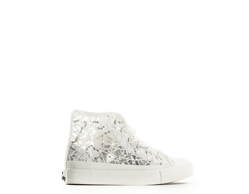 Scarpe MISS SIXTY Bambini Sneakers Trendy BIANCO Paillettes 275d0431769