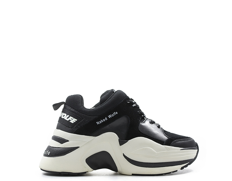 Scarpe NAKED WOLFE Donna Sneakers Trendy  NERO Pelle naturale,Tessuto NWSTRACK-B