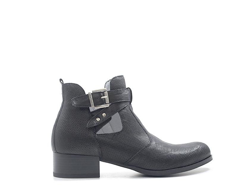 shoes black GIARDINI women Tronchetti Bassi  black Pelle naturale P907660D-100