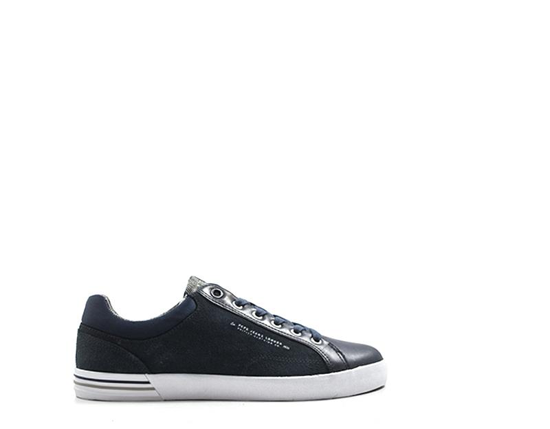 Dettagli su Scarpe PEPE JEANS Uomo Sneakers trendy BLU Pelle naturale,Tessuto PMS30384 585S