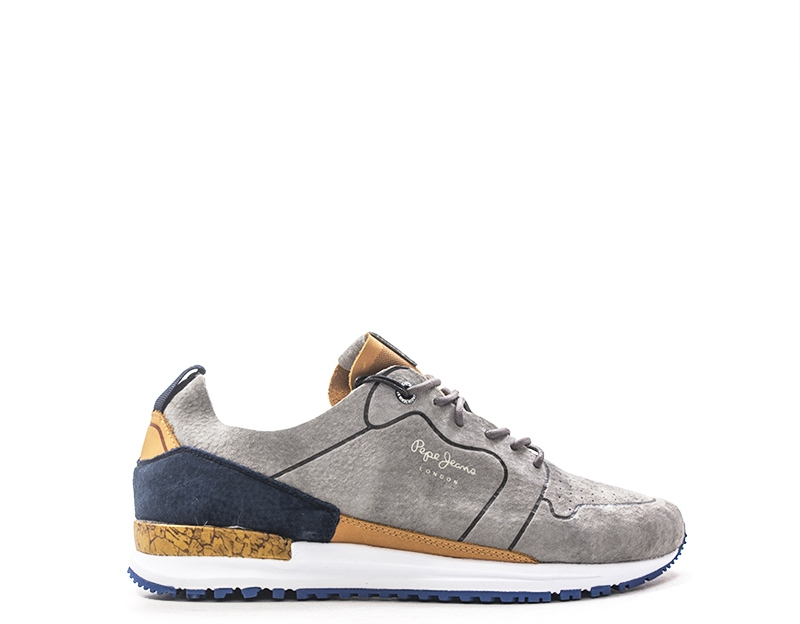 Chaussures Pepe Jeans Homme Baskets Trendy Gris En Daim Pms30411 945g Ebay
