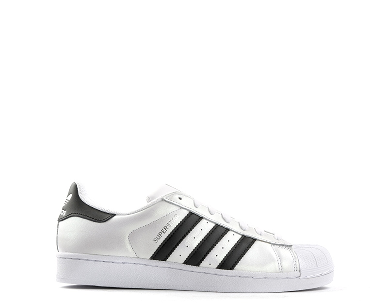 Schuhe Schuhe ADIDAS Frau BIANCO/NERO Gummi,Naturleder S75873U