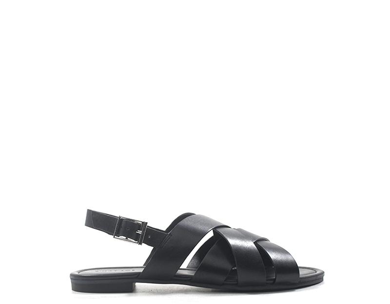 Zapatos what for mujer negro naturaleza cuero ss19wf052-ne