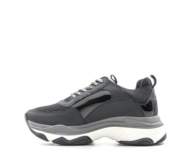 ae26eec6aad4c Scarpe FORNARINA Donna Sneakers Trendy NERO Pelle naturale