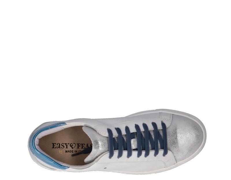 Zapatos-EASY-PEASY-Mujer-BIANCO-BLU-SUPRIME-BIANCA8 miniatura 5
