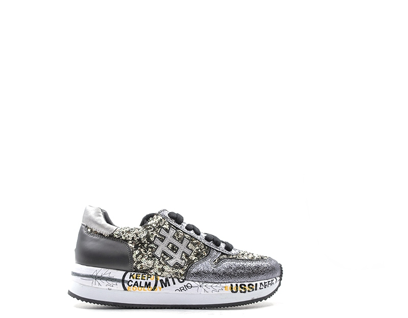 8c19287fc5 Dettagli su Scarpe STUDIO ITALIA Donna Sneakers Trendy GRIGIO PU,Tessuto  TOLOSA01-PE