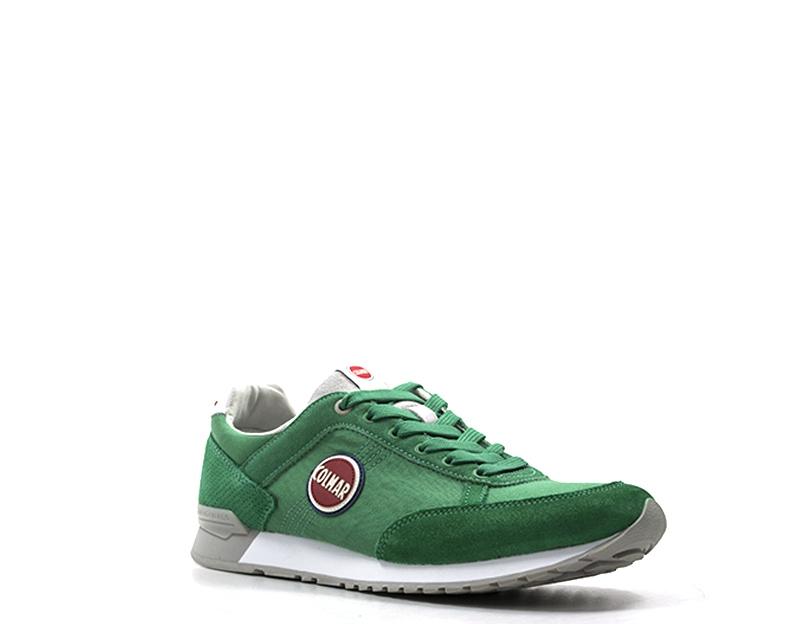 Dettagli su Scarpe COLMAR Uomo Sneakers trendy VERDE Pelle naturale,Tessuto TRAVISCOLOR 014