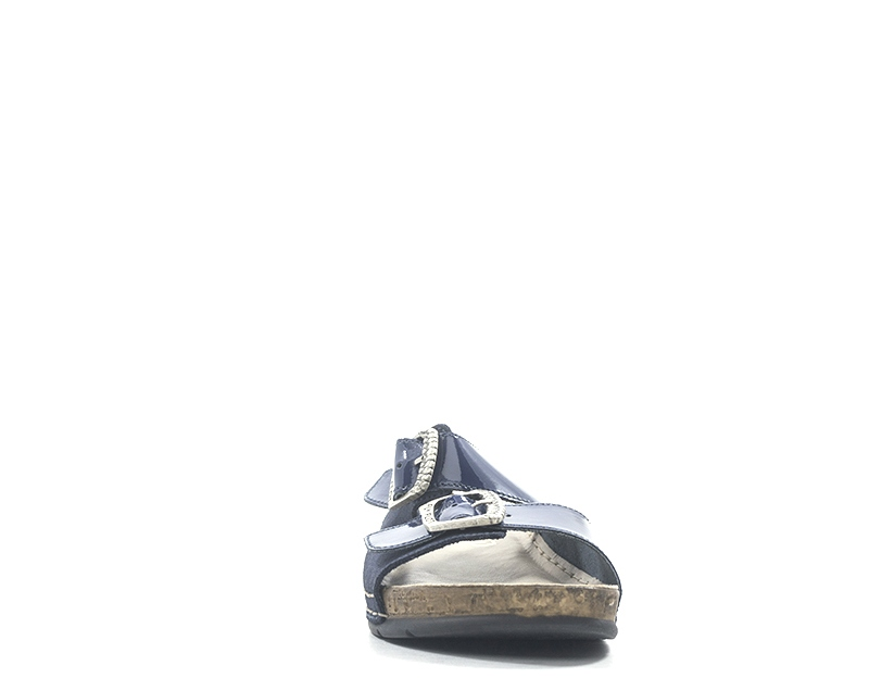 Scarpe FLY FLOT Donna Ciabatte  BLU Pelle naturale 384  BL