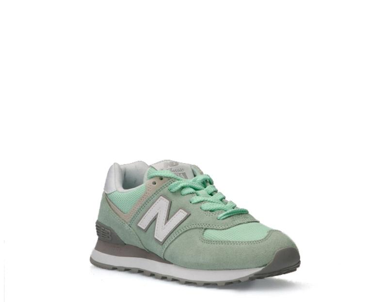 Zapatos NEW BALANCE Mujer VERDE Cuero natural,Gamuza,Tela WL574ESM ...