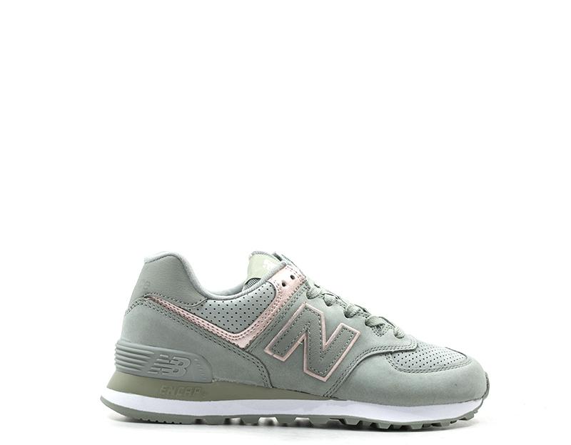 999c7a0b0b Scarpe NEW BALANCE Uomo Sneakers VERDE Pelle naturale WL574NBL | eBay