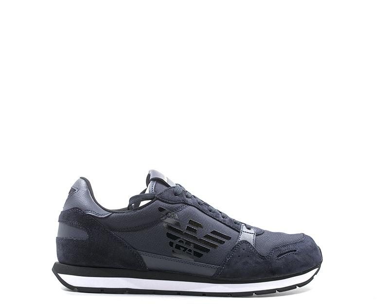 Homme Blu Xl198 Chaussures Daim T370 En Sur X4x215 Détails Armani tissu Emporio Fcl1JK