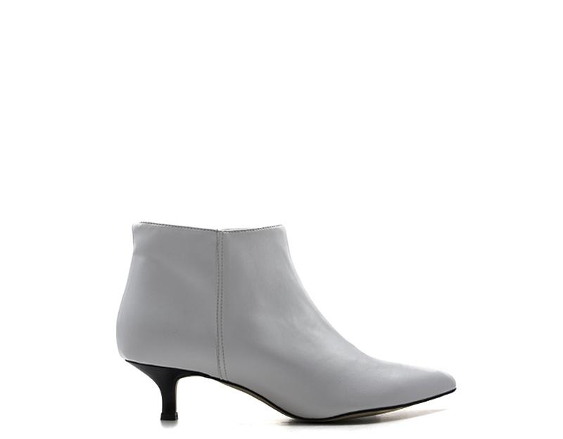 Detalles de Zapatos Nerofumo Mujer Botines Bajos Blanco Piel Natural YSA496 BN