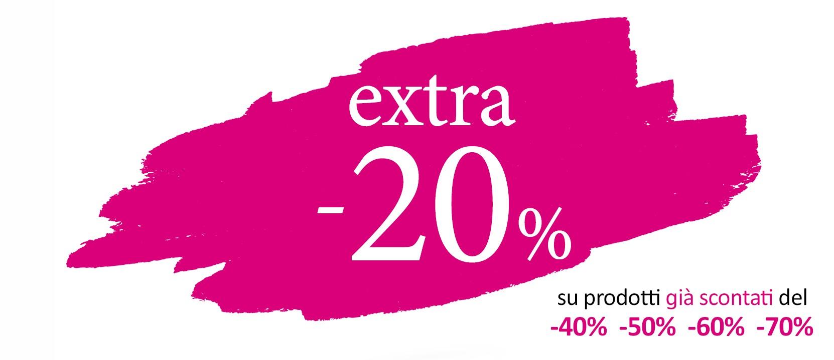 Ritorna l'EXTRA -20%