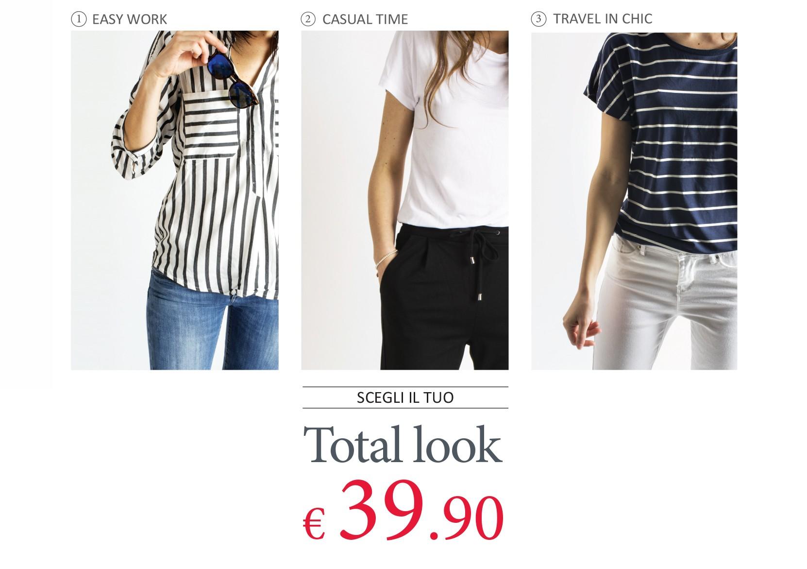 3 Total Look Donna a scelta a 39.90€