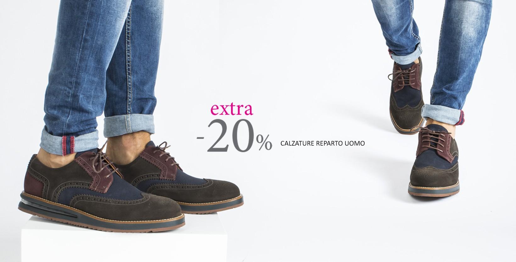 Extra -20% calzature reparto uomo