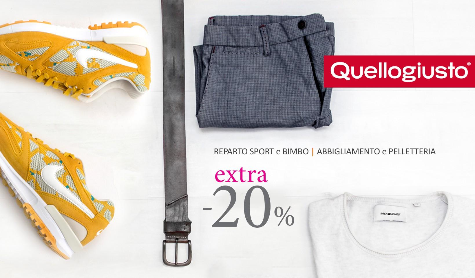 Extra 20% sport bimbo abbigliamento pelletteria