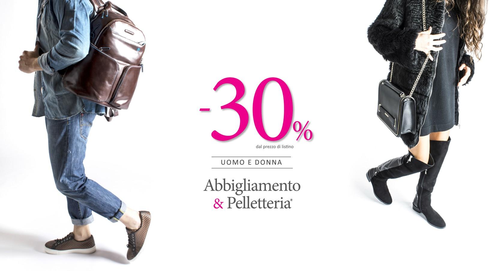 30% su abbigliamento e pelletteria  7f3eafd1ebc